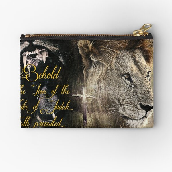 Behold, The Lion Of The Tribe Of Judah Zipper Pouch