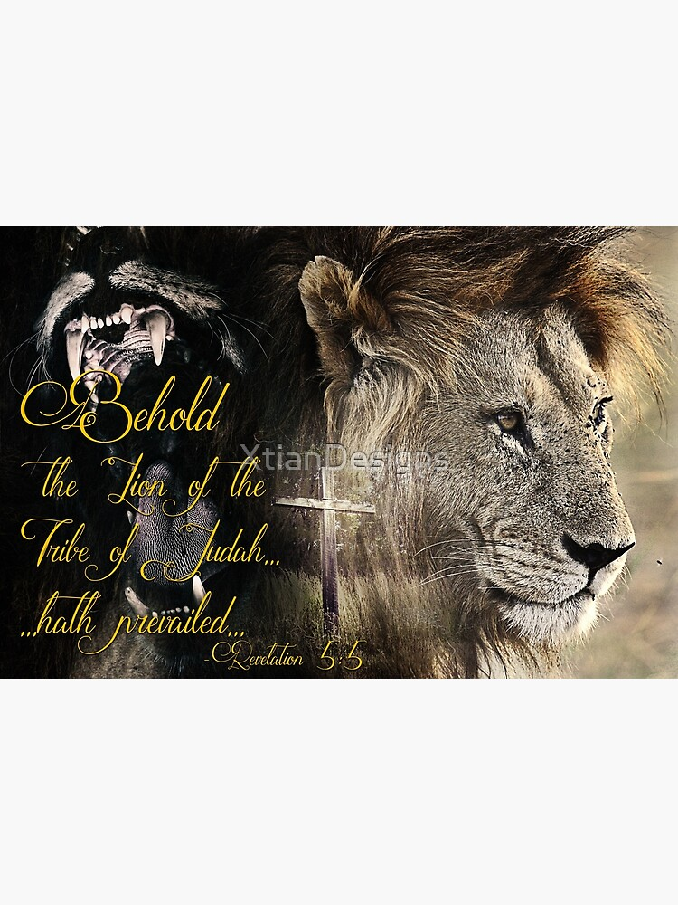 Behold, The Lion Of The Tribe Of Judah by XtianDesigns
