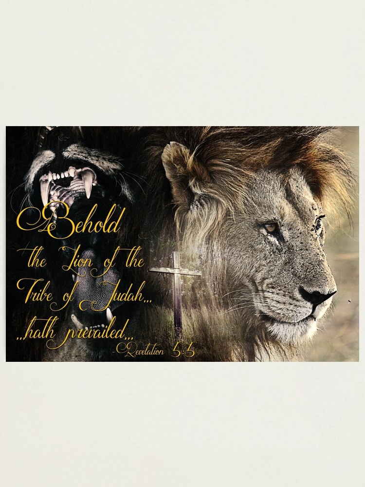 Alternate view of Behold, The Lion Of The Tribe Of Judah Photographic Print