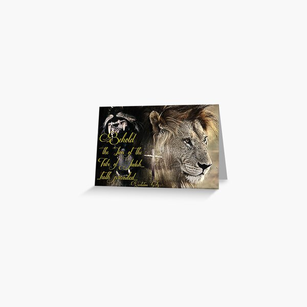 Behold, The Lion Of The Tribe Of Judah Greeting Card