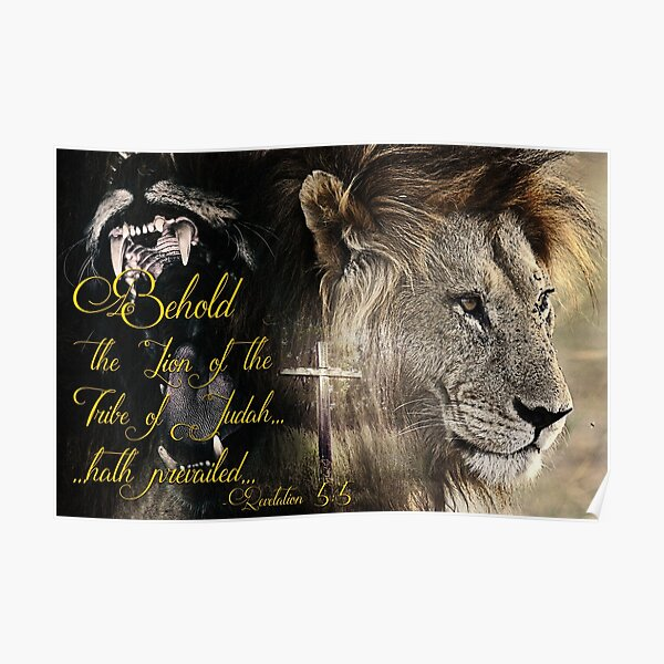 Behold, The Lion Of The Tribe Of Judah Poster