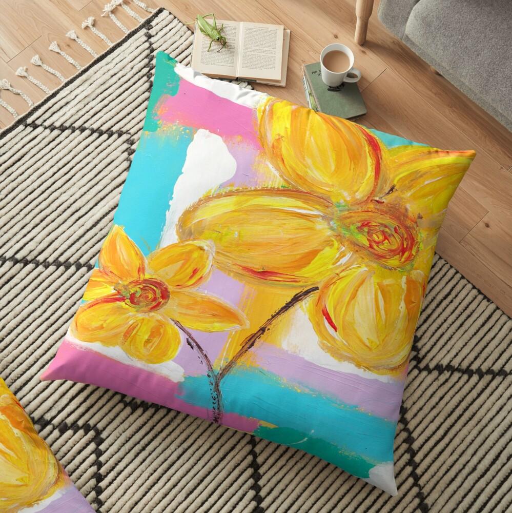 Is It Spring Yet? Floor Pillow