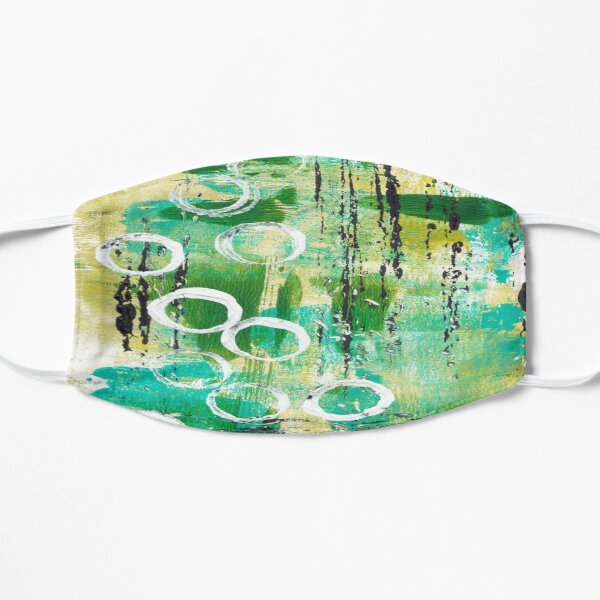 ABSTRACT IN GREENS Mask