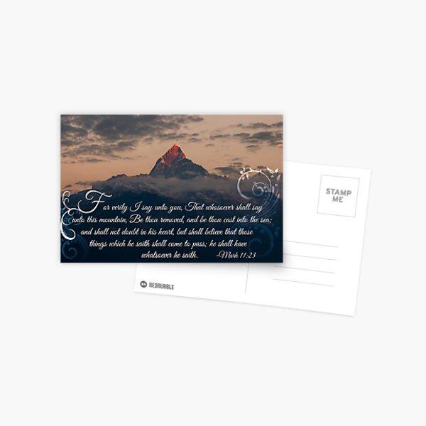 Mark 11:23 - God Moves Mountains Postcard