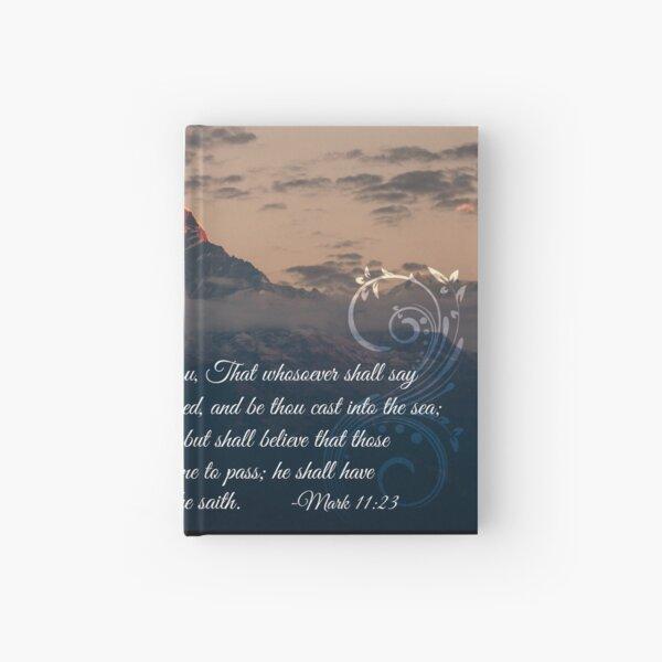 Mark 11:23 - God Moves Mountains Hardcover Journal
