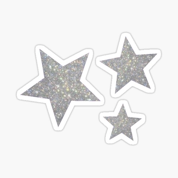 Glitter Stars Sticker