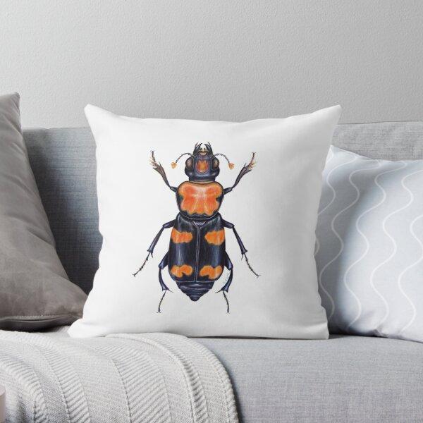 American Burying Beetle Throw Pillow
