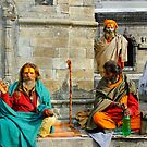 Pushpatinath Temple Sadhus  by Harry Oldmeadow