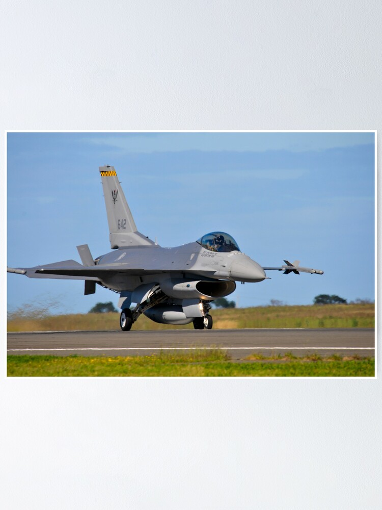 F 16c Falcon 143 Squadron Republic Of Singapore Air Force Poster By Orangetim Redbubble