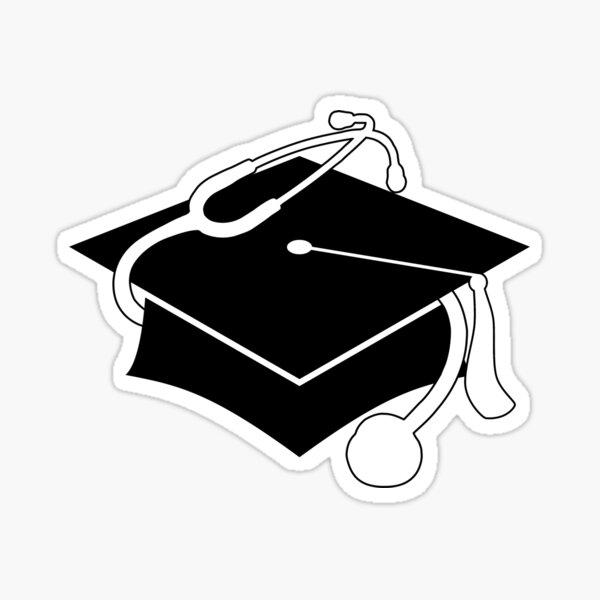 gorro de graduación médica Pegatina