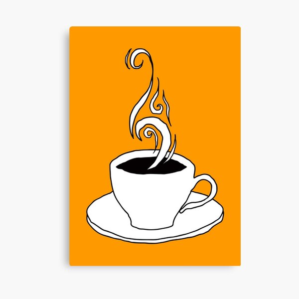 coffee scribble Canvas Print