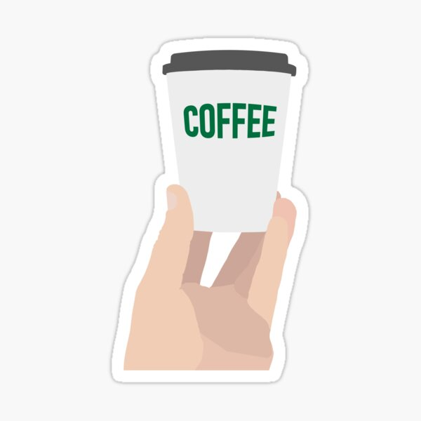 "Coffee Cup - ""Coffee"" Sticker"