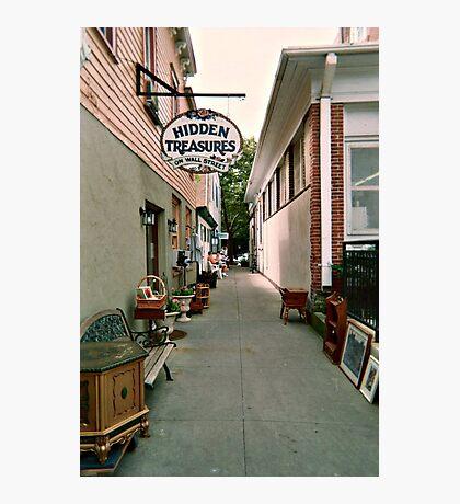 Hidden Treasures on Wall Street, Ocean Grove NJ Photographic Print