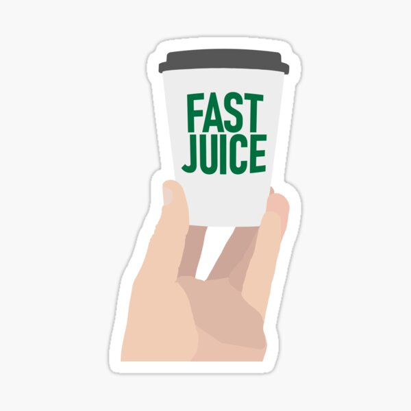 "Coffee Cup - ""Fast Juice"" Sticker"