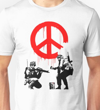 Banksy - Soldiers Painting Peace (CND Soldiers) Unisex T-Shirt