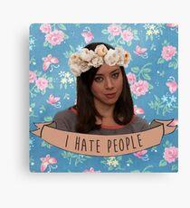 I Hate People - April Ludgate Canvas Print