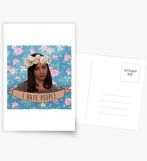 Ich hasse Leute - April Ludgate Postkarten