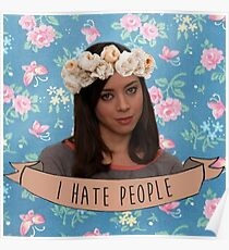 I Hate People - April Ludgate Poster