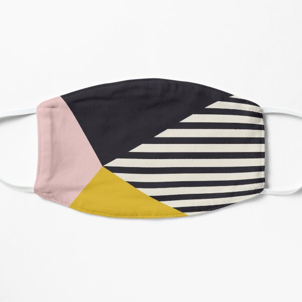 Geometry with stripes and block colors Flat Mask