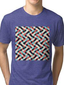 Crazy Retro ZigZag Tri-blend T-Shirt