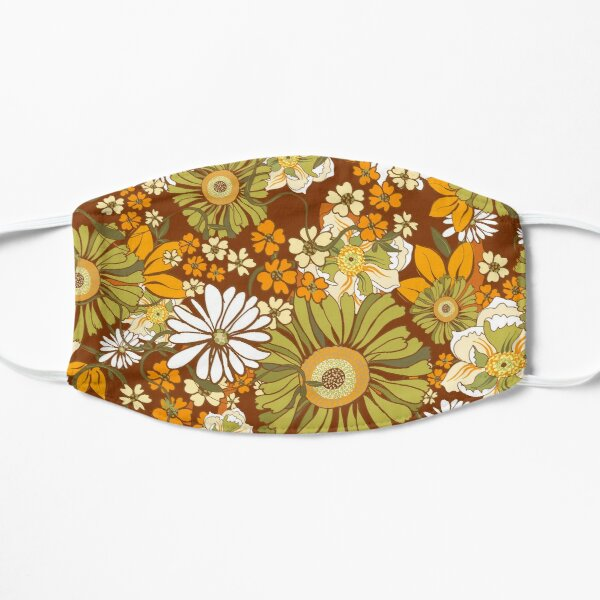 70s Retro Vintage Flower Power pattern Mask