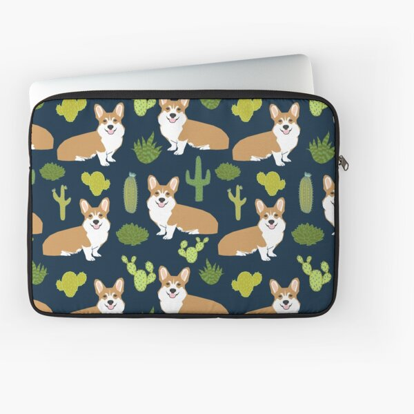 Corgi welsh corgi southwest cactus dog dogs dog breed dog pattern pet friendly Laptop Sleeve