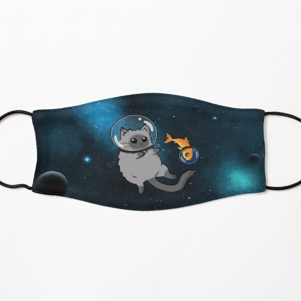 spacecat and spacefish Kids Mask