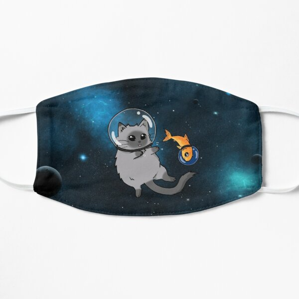 spacecat and spacefish Flat Mask