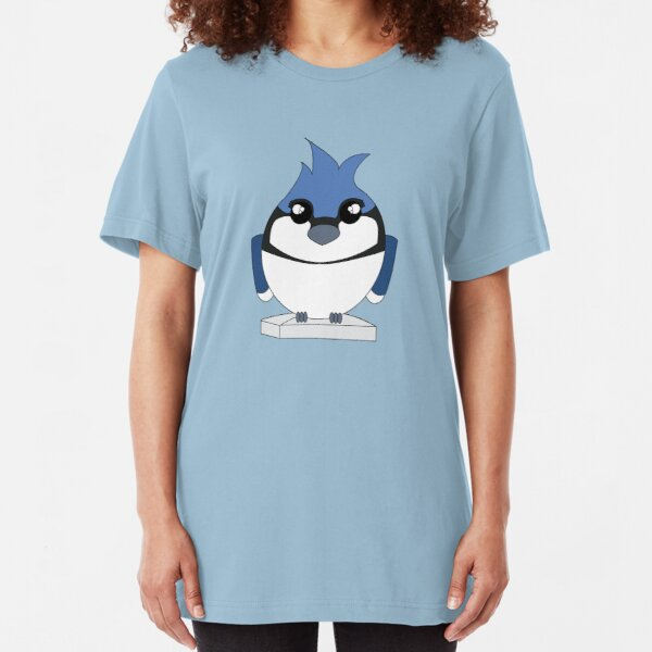 Blue Bird on Third Slim Fit T-Shirt