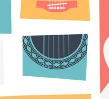 Guitar Collage Sticker