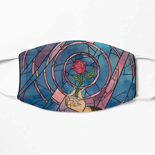 Enchanted Stained Glass Rose Mask