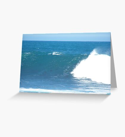 The harmony of the waves Greeting Card