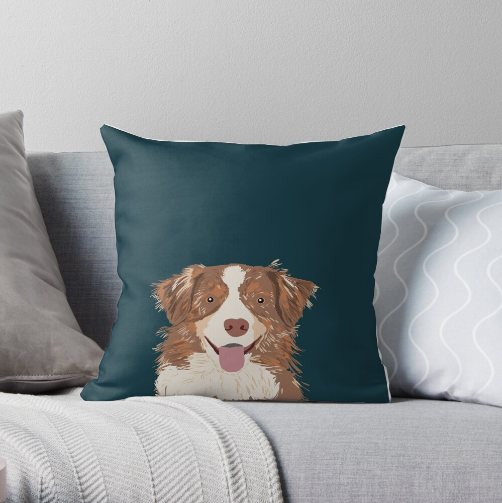 Hollis - Australian Shepherd gifts for dog lovers dog owner gifts and perfect gift for dog person Throw Pillow