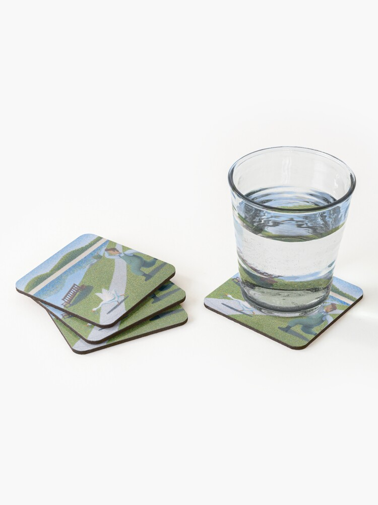 Alternate view of Une Oie Coasters (Set of 4)
