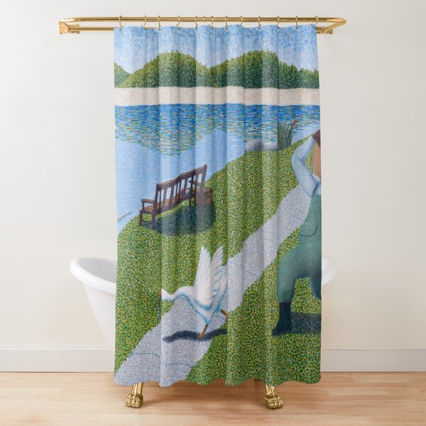 Une Oie Shower Curtain