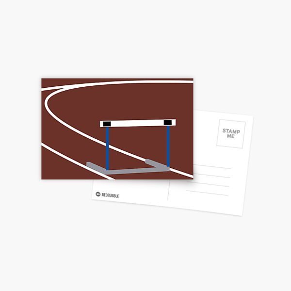 Simple Hurdle Postcard