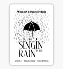 Singin' in the Rain Movie Poster Sticker