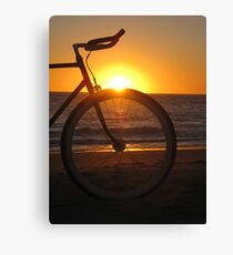 Fixie at Sunset Canvas Print