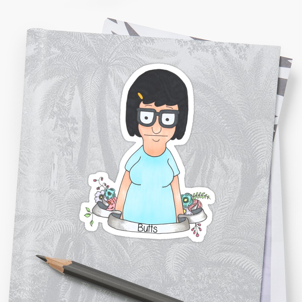 "Tiny Home Designs: ""Tina Belcher "" Stickers By Laurajean1"