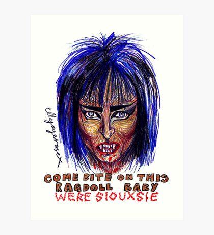 Were Siouxsie Art Print