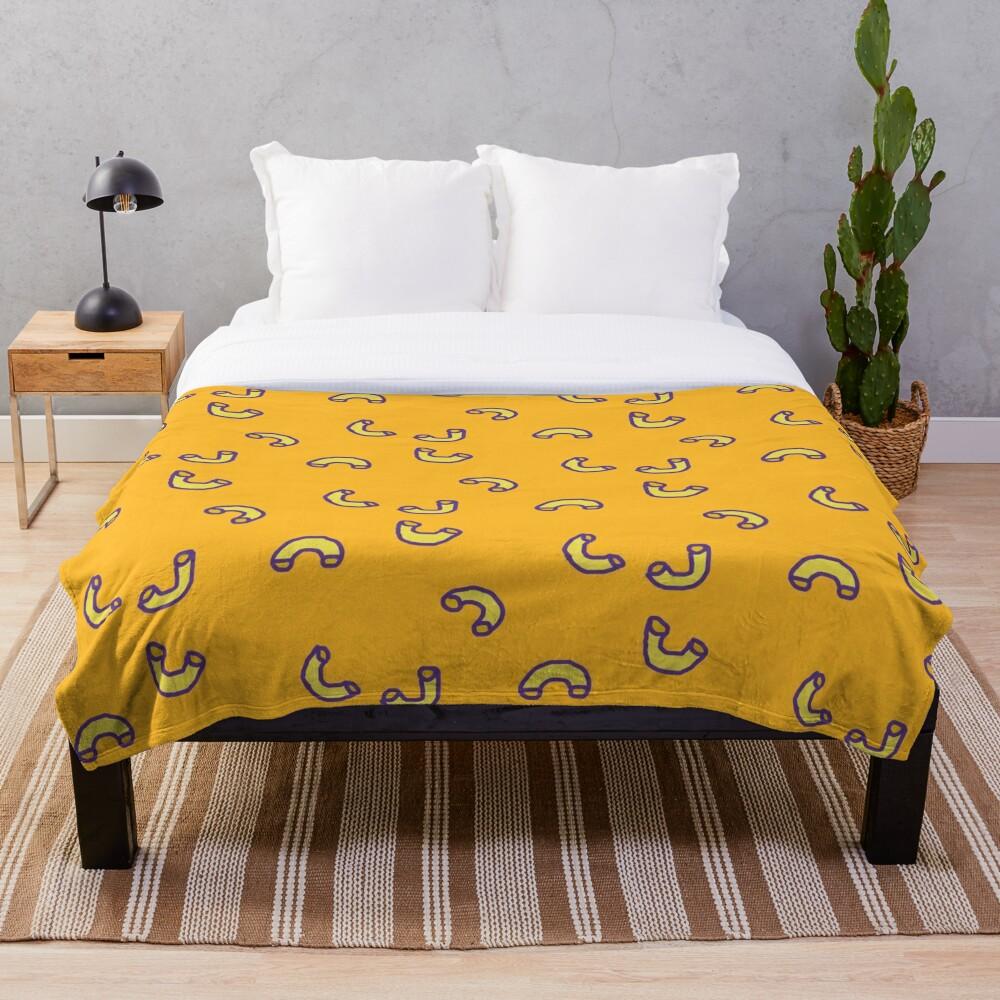 Mac N Cheese Pattern Throw Blanket
