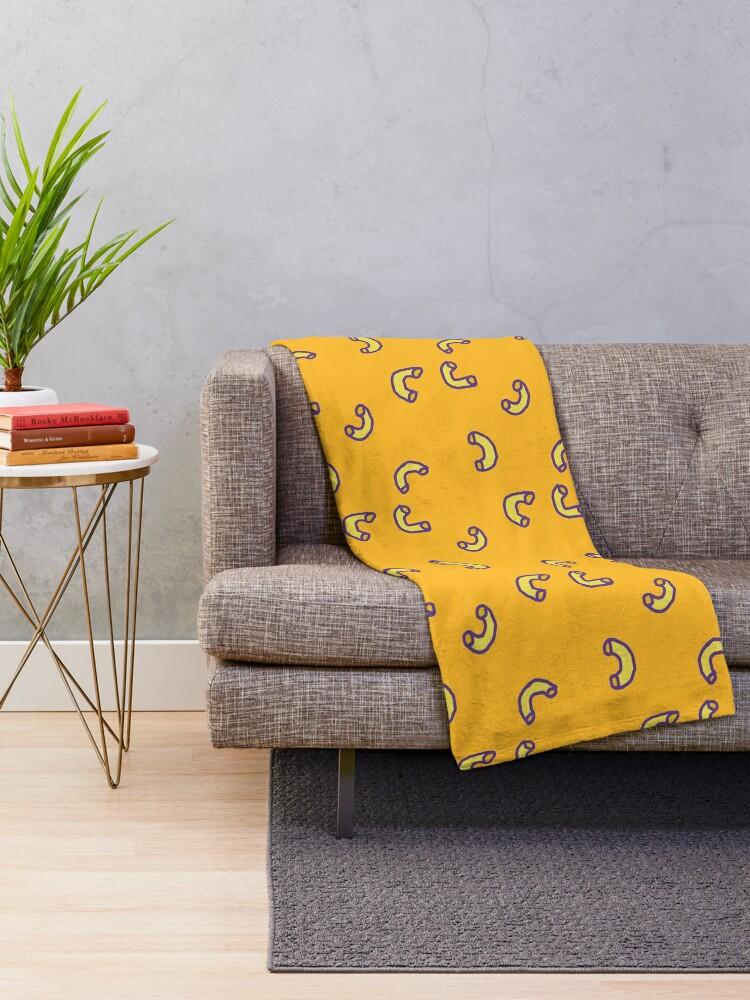 Alternate view of Mac N Cheese Pattern Throw Blanket