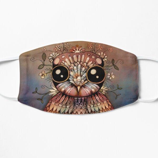 little rainbow flower owl Mask