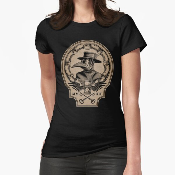 Vintage Plague Doctor Fitted T-Shirt
