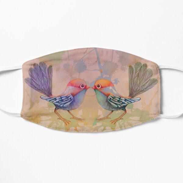 little love birds pink Mask