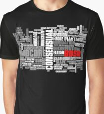 BDSM words cloud Graphic T-Shirt