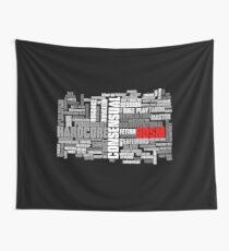 BDSM words cloud Wall Tapestry