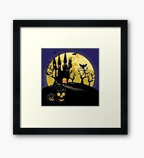 Haunted Halloween Castle Framed Print