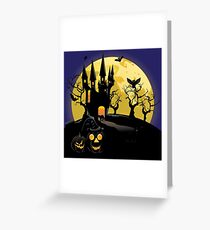 Haunted Halloween Castle Greeting Card