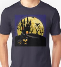 Haunted Halloween Castle Unisex T-Shirt